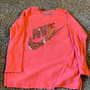 Pink oversized Nike crew neck sweater